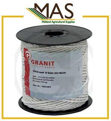 Electric Fence Wire Cable - 6mm/200m