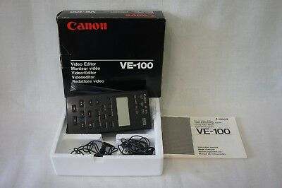 Canon VE-100 Video Editor oridgnal box with instruction book & connecting cables