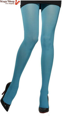 Smiffy's - AC0311/TURQUOISE Collants opaques bleu turquoise taille unique