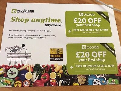 £20 Off First Shop Ocado Voucher For You And Friend &  delivery