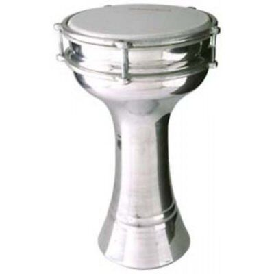 Turkish Aluminium Darbuka with 20cm Tunable Plastic Head