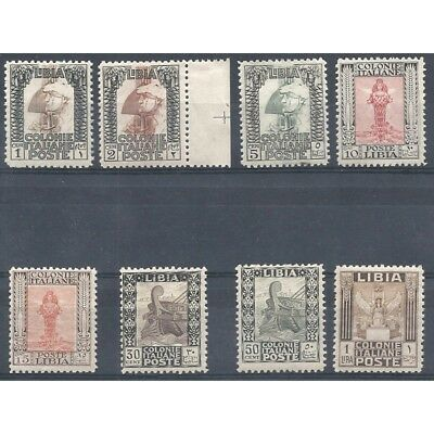 1927 Libya Series Pictorial Without Filigree N 58 - 65 8 Values New Mnh Mf2798