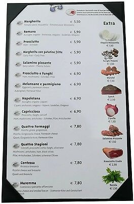 10 Pcs Of Menu Cover 8.5 X 14 Inches,Single View,Sold By Box,With Clear PVC For