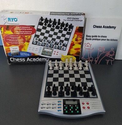 RYO Chess Academy, Electronic Talking Chess Set With Teaching System, Boxed.