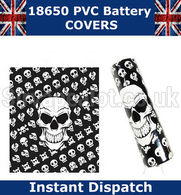 Skulls 18650 PVC Heat shrink Shrink Wrap Battery covers Various Styles