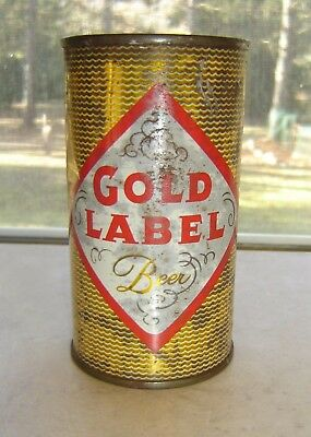 Gold Label Flat Top Beer Can