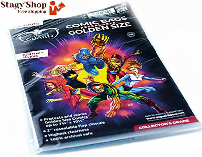 Ultimate Guard Comic Sacs Refermables Doré Taille (Lot de 100)