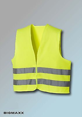 texxor High Visibility Vest Safety Warning GEM EN 471 Yellow Fluorescent
