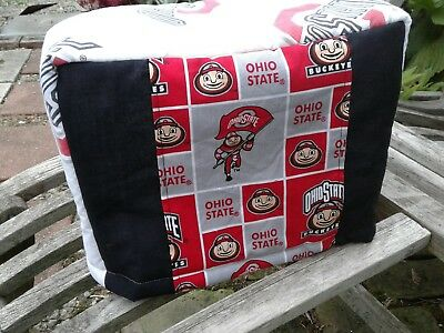 Ohio State Buckeyes Toaster Cover Fabric Quilted Sewn 2 slice