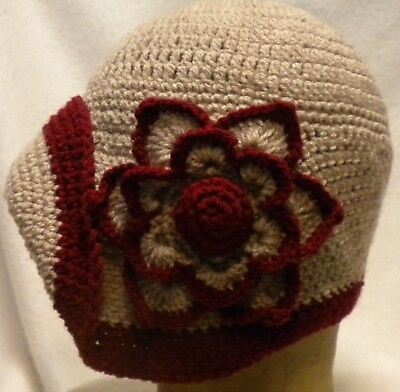 Cloche 1920s vintage style  ladies flapper  hat handcrafted parchment /cherry