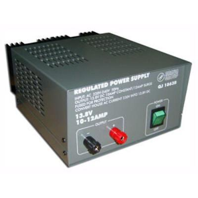QJE QJ1863 10-12 amp 13.8V Linear DC Power Regulated Power Supply