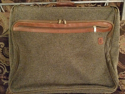 Hartmann Luggage Tweed Brown Suitcase Expandable