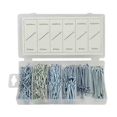 500 Piece Cotter Pin Split Pin Fixings Securing Pins Assortment In Carry Case