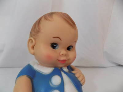 """1967 Uneeda """"Plumpies"""" Squeeze Toy Doll - Still works"""