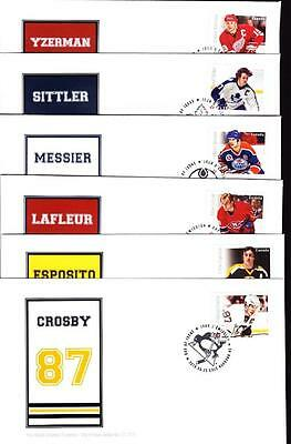 Canada 2016 NHL Great Forwards, rare booklet set of 6 OFDCs, limited edition