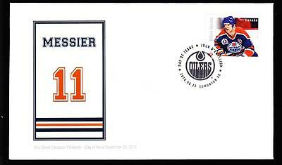 Canada 2016 OFDC sc#2946 booklet single NHL Forwards-Messier, limited edition