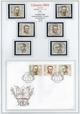 LITHUANIA 2004 MNH/USED-CTO/FDC SG824-26 Anniversaries