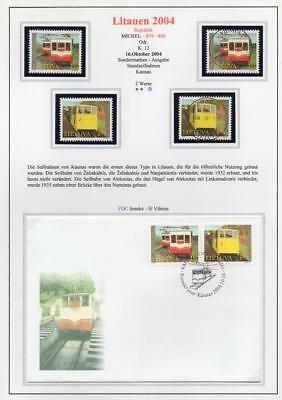 LITHUANIA 2004 MNH/USED-CTO/FDC SG845-46 Funicular Railways