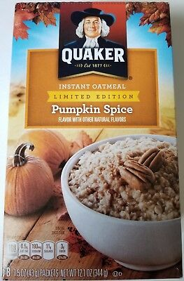 NEW Quaker Pumpkin Spice Instant Oatmeal Limited Edition FREE WORLDWIDE SHIPPING