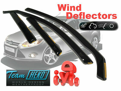 Team HEKO Tinted Wind Deflectors 4Pc Set 5-Door Hatchback Ford Focus 2011>