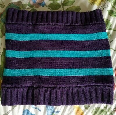 Ivivva Snow Awesome Circle Scarf Knit Fleece Purple Blue NWOT
