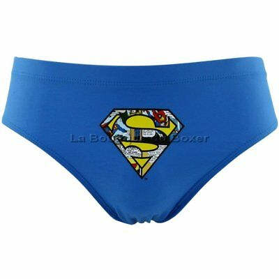 DC COMICS Slip Bain Moulant Garçon SUPERMAN Bleu MARVEL