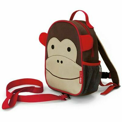 Skip Hop Monkey Zoo Backpack Harness Rein Baby Toddler Safety Leash Strap Bag