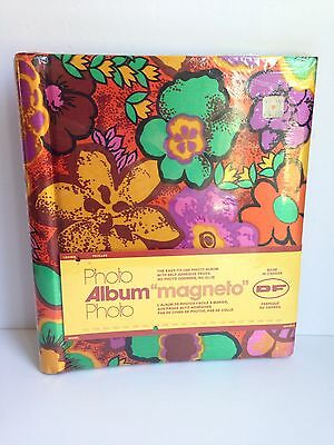 Vintage Photo Album 1970s Cloth Covered Spiral Bound Self Adhesive Pages SEALED!