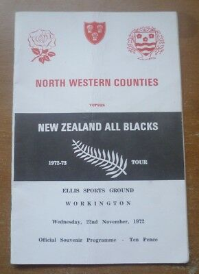 1972 - North Western Counties v New Zealand, Touring Match Programme.
