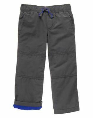 NWT Gymboree Boys Pull on Pants Gymster Fleece Lined gray 2T 3T 4 5 6 7