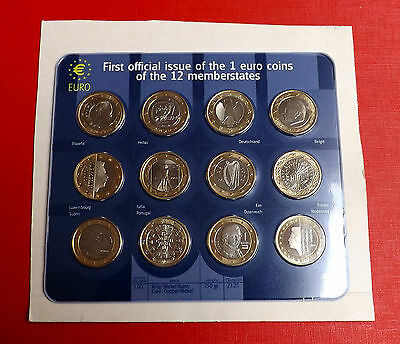 First Official Issue Of One Euro Coins Of 12 Member States