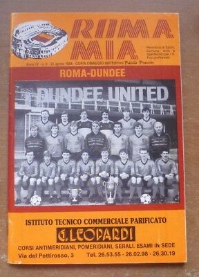 Roma v Dundee United, 1983/84 - European Cup Semi-Final Match Programme.