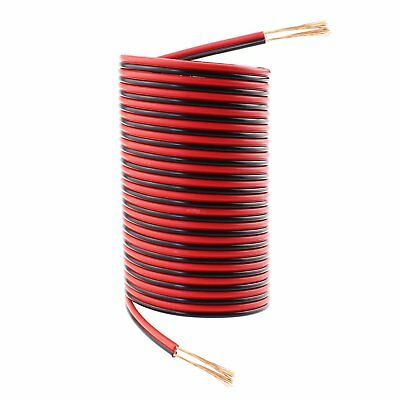 18 Gauge 50Ft Red Black Hookup Electrical Wire, SIMNAT 18 AWG Extension Copper