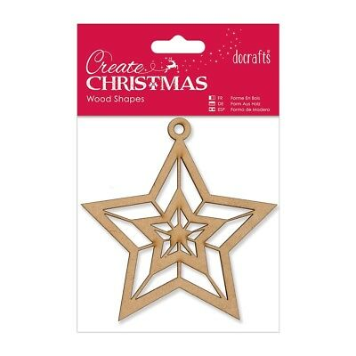 STAR - WOODEN SHAPE - Create Christmas Collection - Docrafts