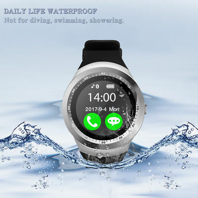 Y1 Bluetooth Smart Watch Pedometer Sleep Monitor SIM TF for Android IOS Phone UK