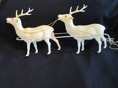 ANT/VTG XMAS 1930's OCCUPIED JAPAN CELLULOID REINDEER--JEWEL EYES--PART OF SET