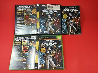 Bundle of 2 Empty Game Cases - Star Wars Battlefront II for Xbox & Playstation 2
