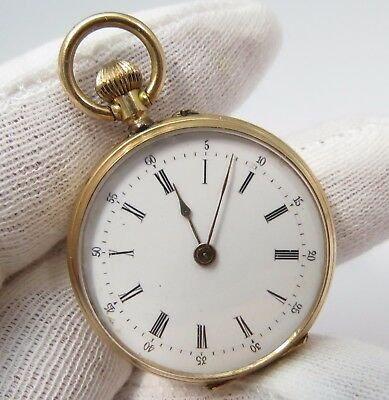 "MARQUE DEPOSEE,Swiss Natl Expo 1883 ""14K Solid Case"",LADIES POCKET WATCH,178"