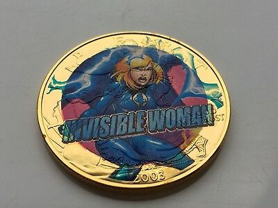 2003 Ultimate Marvel Super Hero Collection Invisible Woman 1Oz Silver Round