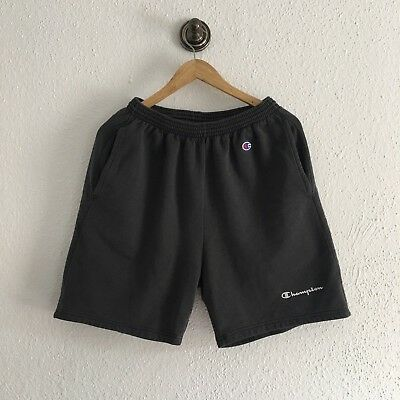 Vintage Champion Sweat Shorts Classic logo spellout black Authentic Athletic App