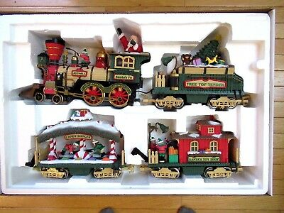 4 Train Cars from Holiday Express (New Bright) (NO track/controller/transformer)