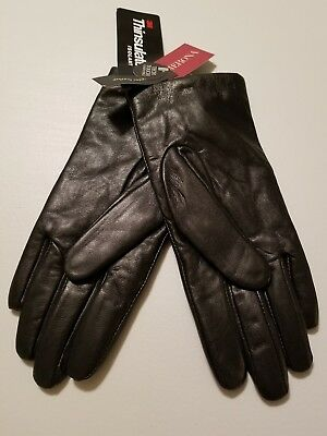 Brand New Merona Leather Black Gloves Size S/m Tech Touch Compatible