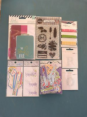 Scrapbooking Cardmaking Embellishments Bulk Lot Pack I