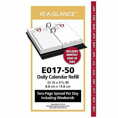 "AT-A-GLANCE Daily Desk Calendar Refill January - December 2018, 3-1/2"" x 6"""