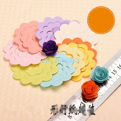 20Pc Handmade Flower Type Origami DIY Manual Rose Paper Mixed Colors 7.5cm/5.4cm