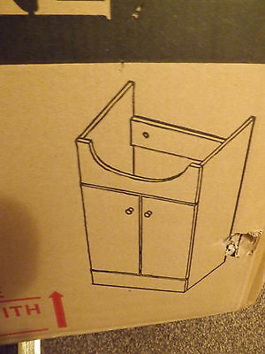 White bathroom cloakroom furniture cabinet vanity unit bn in box