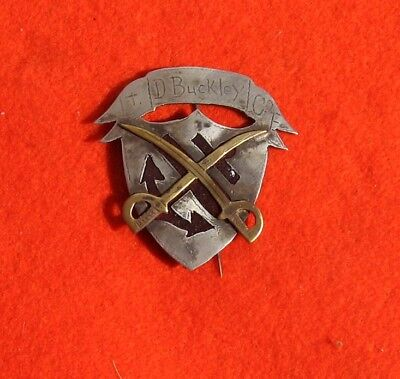 9Th Corps Cavalry Badge, Engraveed And Named