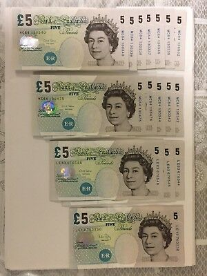 BANK OF ENGLAND OLD FIVE POUND NOTE (Single Note only)