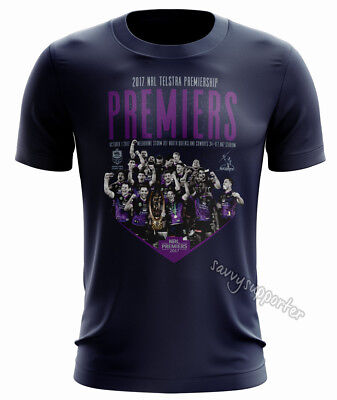 Melbourne Storm 2017 NRL Premiers Celebration Tee Shirt Adults and Kids Sizes