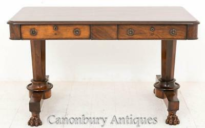 William IV Library Table Desk in Rosewood